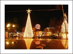 Christmas lights, Xanthi, Thrace, Greece  researched by NEΦEΛH AΓΓEΛΛOY