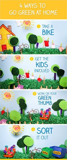 Four ways to #GoGreen at home. What are your favorite ways to be eco-friendly around the house?