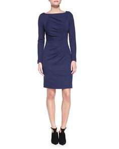T8VAP Milly Andrea Long-Sleeve Dress
