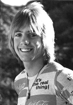 Shaun Cassidy He's wearing a Coka Cola shirt!!! That's my boy!