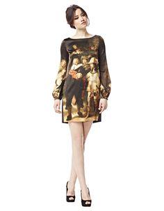 """Rembrandts """"Die Nachtwache"""" auf einem Kleid von LaDress by Simone #artfashion"""