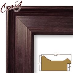 "Craig Frames Inc 14x18 Complete 2"" Wide Mahogany Picture Frame (FM97MA)"