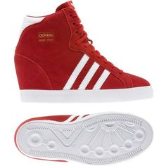 Adidas Basket Profi Up Shoes ($72) ❤ liked on Polyvore featuring shoes, wedges, suede shoes, adidas, suede leather shoes, vintage style shoes and traction shoes