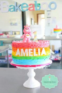 Care Bear Rainbow cake