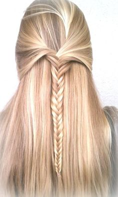 Fishtail. One of the prettiest way to keep those pesky bangs out of your eyes! Like the highlights.