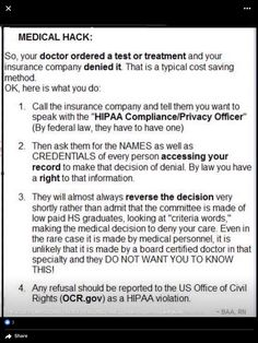 What to do if insurance denies a test or treatment