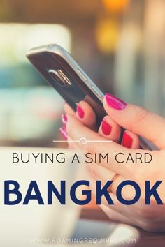 Buying a SIM Card in Thailand. Travel in Asia.