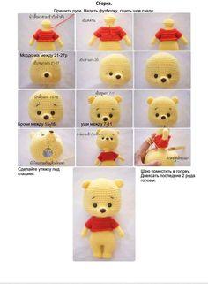 Crochet Pokemon, Kawaii Crochet, Cute Crochet, Crochet Crafts, Crochet Toys, Crochet Projects, Sewing Crafts, Disney Crochet Patterns, Crochet Teddy Bear Pattern