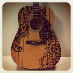 Guitar inspired and autographed by Kellie Pickler