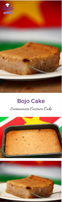 Bojo Cake is a delicious cassava/coconut cake. This is a vegan version of the traditional Surinamese cake and because no flour is used it's also gluten-free.