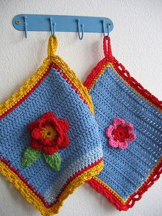 Pretty potholders ideas...!