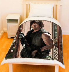 Omg I want this....The Walking Dead Norman Reedus Daryl Dixon Fleece Throw Blanket