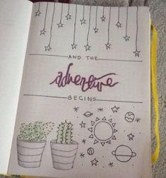 Image result for bullet journal beginning page