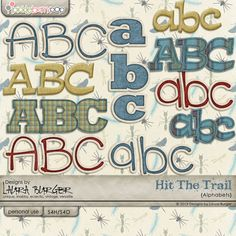 Hit The Trail  Alphabets