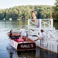 Lake Rabun, GA.  Hall's Boat Docks... Old stomping grounds with my dad, brother and sister.  Good times!!!