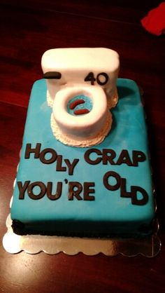 Our first toilet cake...