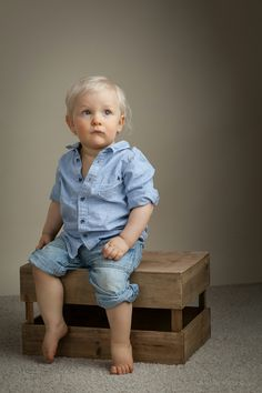 1 year portrait of a boy.   By Marko Roppo Photography