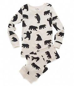 Black Bears on Natural Pyjamas by Canadian designer Hatley.