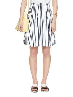 stripe cotton skirt - Kate Spade New York
