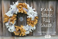 Tutorial: Fall fabric rag wreath