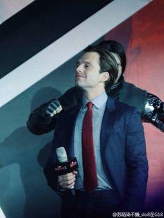 Sebastian Stan at the Captain America: Civil War Beijing Premiere