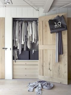A modern dream home, the Industrial-Rustic House in Amsterdam has been cleverly designed and transformed by John Guy van Keulen, featuring layer upon layer of Wardrobe Closet, Room Closet, Closet Space, Walk In Closet, Cedar Closet, Rue Verte, Le Logis, Home Bedroom, Bedrooms