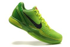 new product 49ec2 c22fd Nike Zoom Kobe 6 VI Grinch Christmas Green Mamba Kobe 6 Shoes, Kobe Bryant  Shoes