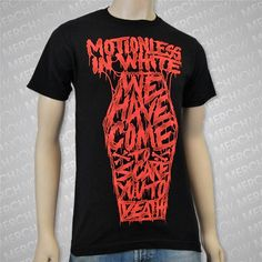 Motionless in White Devil's Night lyrics T-shirt