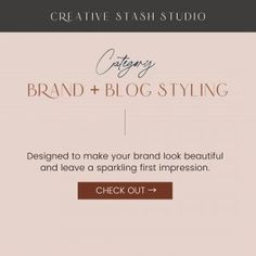 brand and blog styling
