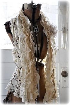 made from a tablecloth... vintage vest