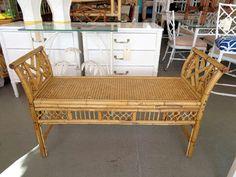 Rattan Bamboo Bench