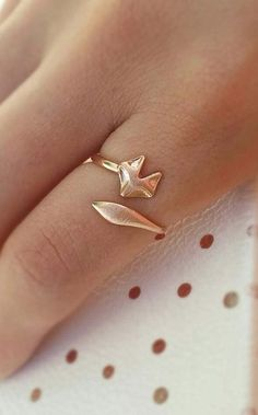 Shop Origami Jewels Fox ring Etsy