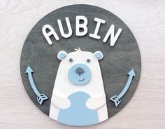 Your place to buy and sell all things handmade Door Plaques, Name Plaques, Wooden Plaques, Painted Wooden Signs, Wooden Wall Art, Lapin Art, Wall Ornaments, Wooden Animals, Boys Room Decor