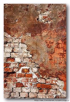 Photo about Textured wall with brick, stucco. Image of blocks, dirty, cement - 15956554 Brick Art, Faux Brick, Brick And Stone, Old Brick Wall, Exposed Brick Walls, Art Grunge, Old Wall, Grafik Design, Textures Patterns