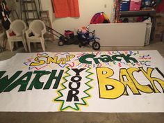 """First football game of the season, we said """"Snap, Crack, Watch your Back! Football Spirit Signs, Football Game Signs, Basketball Signs, Football Cheer, School Football, Football Season, Varsity Cheer, Sports Signs, Girls Basketball"""