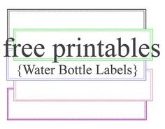 Free Blank Water Bottle Label Template Download WL Template In - Free printable water bottle label template