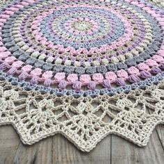 What do you know about crochet mandala pattern? It is a beautiful crochet pattern that can be adapted for creating a functional crochet item. Crochet Mandala is typical in which it has a circular shape and various colors of the… Continue Reading → Crochet Rug Patterns, Crochet Mandala Pattern, Crochet Circles, Crochet Round, Crochet Squares, Crochet Designs, Crochet Afghans, Crochet Blankets, Double Crochet