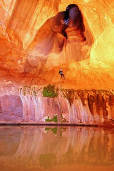 Neon Canyon – Canyoneering Grand Staircase Escalante National Monument, Utah Does that shadow now look like a woman? Wonderful Places, Beautiful Places, Beautiful Scenery, Beautiful Life, Amazing Places, Places Around The World, Around The Worlds, Escalante National Monument, Escalante Utah