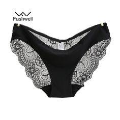 Women Fat Low Waist Underwear Wings Lace Hollow Panties Briefs Underwear L0