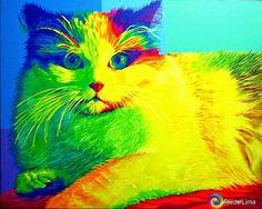 Pop Art Fredo Lima: Acrílico  sobre Tela - Estilo Pop Art - Minha Técn...