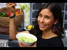 GET RAW Dinner-Zucchini Noodles with Creamy Avocado Sauce! - YouTube