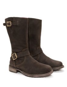 JJ Footwear Buckled leather boots in Brown