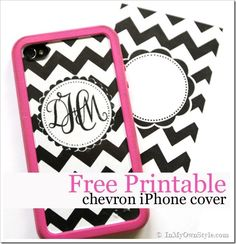 How I Made My Monogrammed iPhone Cover....so nice she shared this tutorial
