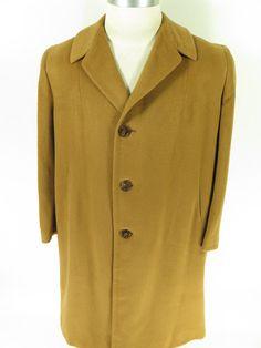 Vtg 60s 100% Pure Royal Vicuna Overcoat Coat Mens XL Deadstock Nos [fur bin Closet G52F 3lb 6oz]