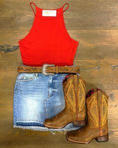 """8b5cb75d652 El Potrerito Western Wear on Instagram  """"Quieres este look visita   elpotrerito"""". Summer Cowgirl OutfitsSummer Boots ..."""