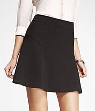 WOVEN HIGH-WAIST FIT AND FLARE MINI SKIRT @express