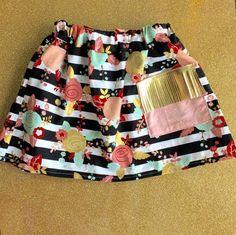 Floral ( BOHO ) skirt -LUK