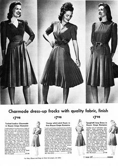 Vintage Fashion   Charmode Frocks, 1942   Lee Sutton   Flickr