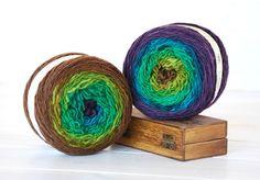 Hand Dyed Yarn - 100% Wool Color Vertigo Ombre  by CraftyWoolFelt