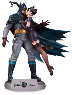Limited Edition DC Bombshells Batman and Catwoman Deluxe Statue